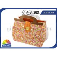 Buy cheap Printing Handbag Shaped Wrapping Paper Gift Bag with Die-cut Handle , Eco-friendly from wholesalers