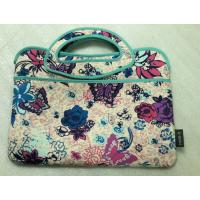 """Buy cheap low price ladies 17""""inch neoprene laptop office tote bag with label by zigzag stitching product"""