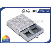 Buy cheap Handmade Delicate Rigid Slide Box Silver Cardboard Liners Paper Drawer Box from wholesalers