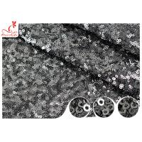 Buy cheap Shiny Embroidered Black Sequin Mesh Fabric For Party Evening Dress R&D Available product