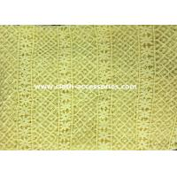 Buy cheap 50 Yellow Polyester Guipure Lace Trim Crochet For Clothes Accessories from wholesalers