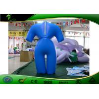 Buy cheap Blow Up Cartoon Characters PVC Blue Sexy Costume / Inflatable Air Suit For Events from wholesalers