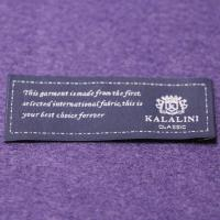 Buy cheap Polyester Yarns Over lock  Custom Woven Clothing Labels Pantone Color from wholesalers