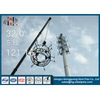Buy cheap 30m Height Telecommunication Towers Flange Connection For Broadcasting With Platforms from wholesalers