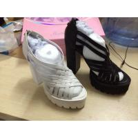 Buy cheap 2014 fashionable hand-knitting leather lace open toe high heel lady sandal with platform from wholesalers