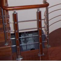 Buy cheap Wooden Handrail Baluster , 6mm Solid Aluminum Alloy Staircase Iron Balusters from wholesalers