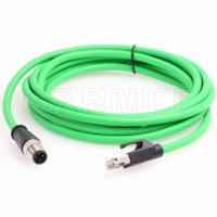 Buy cheap M12 Dcoded 4 Pin Male Flexible Ethernet Cable to RJ45 Male With Industrial Cat5e Shielded from wholesalers