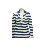 Buy cheap Yarn Dye Terry Ladies Casual Coats Ladies Spring Jacket With Turn Down Collar from wholesalers