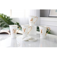 Buy cheap Lightweight  250ml Hand Painted Drinking Fine Porcelain Coffee Mugs from wholesalers