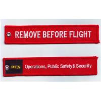 Buy cheap Remove Before Flight Operation Public Safty Security Fabric Embroidered Key Tags from wholesalers