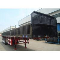 Buy cheap 3 Axles 12 Wheels 13m Side Wall Semi Trailer High Tensile Low Alloy from wholesalers