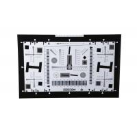 Buy cheap iso 12233 2000 lines camera lens resolution test chart both on paper and glass (chrome print) 0.5x 200mm*356mm 16:9 product