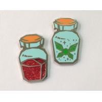 Bottle Shape Hard Enamel Lapel Pins Nickel Plating For Promotional Gifts