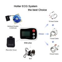 Buy cheap 0.05-60HZ Holter ECG Monitor 12 Channel / 3 Channel Connect With White Recorders from wholesalers