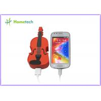 Buy cheap PVC Unique Guitar Mobile Battery Backup Charger Universal USB Compact product
