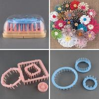Buy cheap Flower Knitting Loom Knit Daisy Flower Pattern Maker Weave Set Home Craft Tool from wholesalers