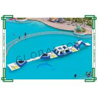 Buy cheap Challenge Track Inflatable Water Parks Floating Playgrounds 0.9mm Thick from wholesalers