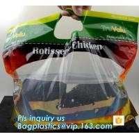 Buy cheap custom printed rotisserie chicken bags roast chicken packaging bag, ziplock handle bags stand up pouch, Plastic foil rot from wholesalers