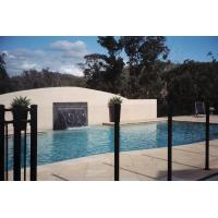 Buy cheap Golden Bronze Modern Flat Top Glass Pool Fencing 8mm - 19mm Toughened Safety Glass from wholesalers