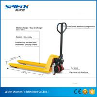 Buy cheap 2 ton hydraulic hand lift stacker manual forklift pallet truck from wholesalers