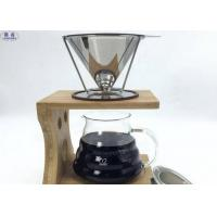Buy cheap Washable Cone Coffee Filters Metal Paperless Basket Easy To Use / Clean from wholesalers