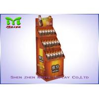 Buy cheap Point Of Sale Corrugated Cardbaord Floor Displays , Bottlle Drink Cardboard Store Display from wholesalers