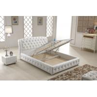 Buy cheap Home Italian Leather Bed , Italian White Leather Bed With Storage Gas Lift from wholesalers