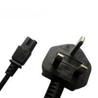 Buy cheap UK C7 power input cord, BS/ASTA approved power cord with fused plug from wholesalers