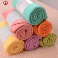 Buy cheap Portable Soft Travel Blanket Solid Color Polar Fleece With belly cards package from wholesalers