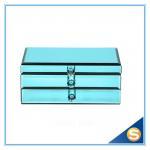 Buy cheap Blue Glass Jewelry Box/ Large Mirror Jewelry Box/Wholesale Jewelry Box from wholesalers