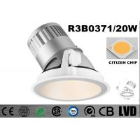 Buy cheap Round 20 Watt LED Wall Washer Lights 2700K Dimmable Recessed LED Downlights from wholesalers