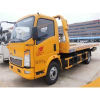 Buy cheap 4X2 Small Flatbed Tow Truck 3 Ton 2 Axles 6 Wheels For Sinotruk HOWO CCC Approved from wholesalers