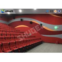 Buy cheap Red Dynamic sitting 4D Movie Theater , Intellectualized Control , Momentum With from wholesalers