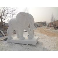 Buy cheap white polyresin elephant sculpture from wholesalers