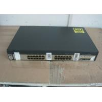 Buy cheap 4 SFP Ports Uplink Used Cisco 3750 Switch , Second Hand Cisco Equipment Catalyst product