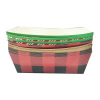 Buy cheap Hot Dog Paper Food Trays Coated Paperboard Basket Ideal for Festival Optional Logo from wholesalers