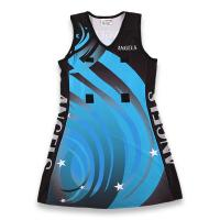 Buy cheap Customized Sublimated Netball Uniforms Youth / Adult Sizes Self Design Pattern  from wholesalers