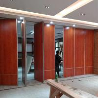 Buy cheap Wooden Material Operable Acoustic Folding Partition Walls For Training Center from wholesalers