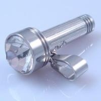 Buy cheap Stainless Steel Flashlight Pendent with White Stone (HBNP00082) from wholesalers