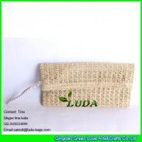 Buy cheap LUDA Paper Straw Clutch Purse Tote Bag Colored Straw Hard Case Natural from wholesalers