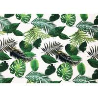 Buy cheap 260GSM Bed Sheet Material 94% Polyester Printing Leaves Custom Patterned from wholesalers