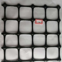 Buy cheap 40x40mm PP Coated Geogrid Plastic Wire Mesh Biaxial Soil Reinforcement from wholesalers