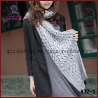 China Most Beautiful Gray Knitting Crochet Winter Scarf (W32-5) on sale