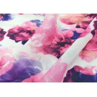 Buy cheap 105 Gsm Pure Polyester Chiffon Fabric Printed Pattern Apply To Hijab / Shawl from wholesalers