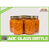 Buy cheap Wholesale glass mason canning jar with screw lid from wholesalers