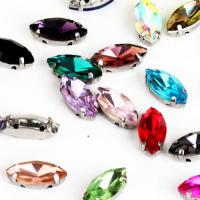 Buy cheap Navette Shaped Sew-On Jewel With Setting; Sew-on Stones for Bridal Dress; Sew-On Jewels for Garments from wholesalers