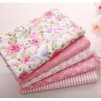 Buy cheap 40cm*50cm Pink 100% Cotton Fabric For Sewing Fat Quarter Quilting Patchwork Tissue Tilda Doll Cloth Kids Bedding Textile from wholesalers