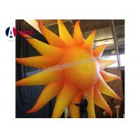 Buy cheap Yellow Inflatable Event Decoration Inflatable Oxford Cloth Large Outdoor Sun from wholesalers