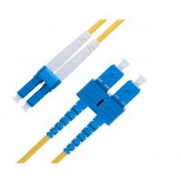 Buy cheap Duplex 9 Ft  LC To SC Single Mode Fiber Patch Cable 2.0 Mm OS1 Series from wholesalers