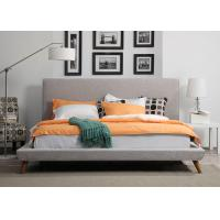 Buy cheap Solid Wood King Size Upholstered Platform Bed , Soft Contemporary Platform Bed from wholesalers